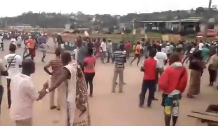 Lors de la dispersion des manifestants